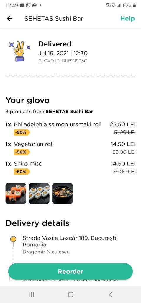 comanda sehetas sushi bar